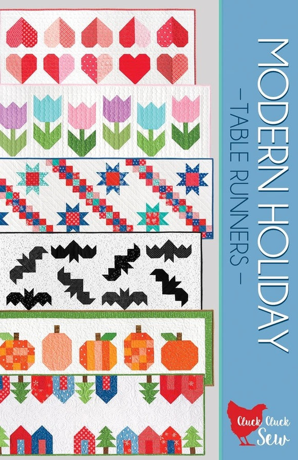 Modern Holiday Table Runners  #186 Pattern by Cluck Cluck Sew