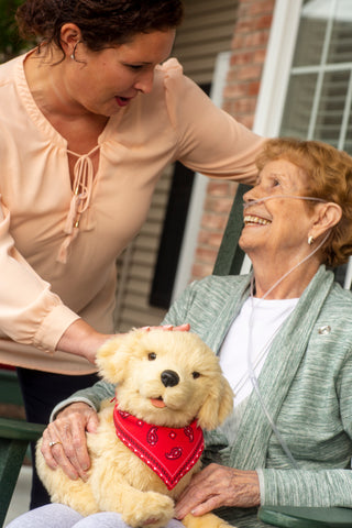 Joy For All- Robotic Golden Dog Companion Pet for Alzheimer's and Caregivers