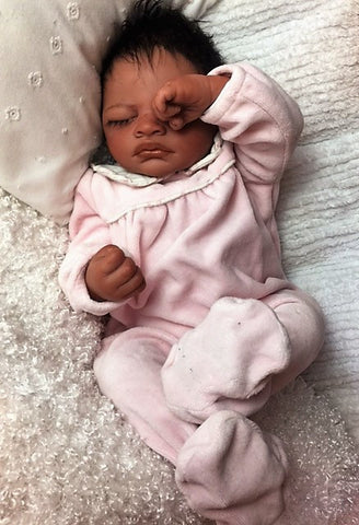 Reborn Believable Babies - Sleeping Biracial Baby Aisha- Doll Therapy for People with Alzheimer's