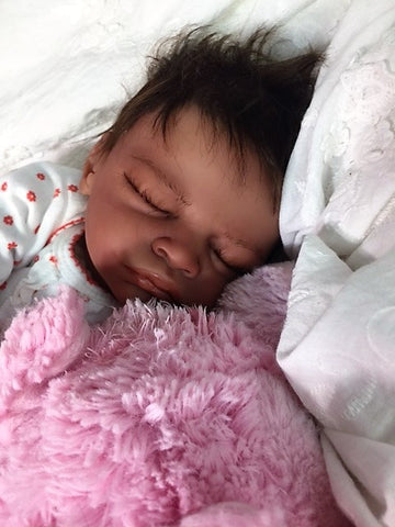 Reborn Believable Babies - Sleeping Biracial Baby Girl Aisha- Doll Therapy for People with Alzheimer's
