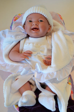 Baby Teresa in White with 7 pc Gift Set- Doll Therapy for People with Alzheimer's and Caregivers