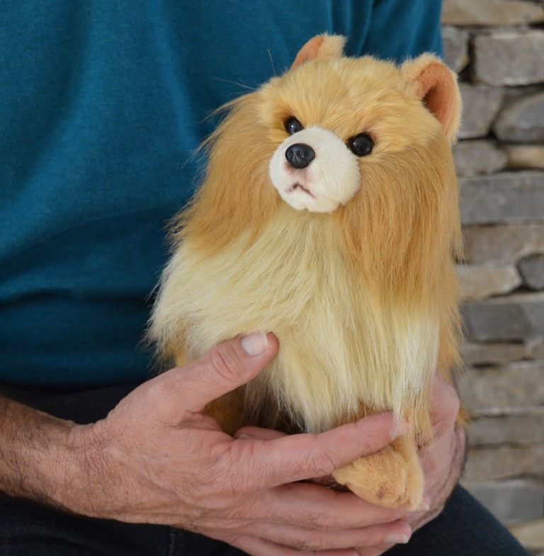 Pomeranian Dog Stuffed Toy For Seniors And People With