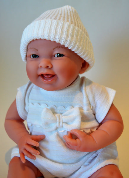 Baby Teresa in White with 7 pc Gift Set- Doll Therapy