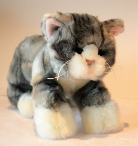 Small Grey Tiger Cat for People with Alzheimer's and Caregivers