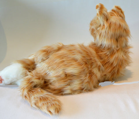 Joy For All- Robotic Orange Tabby Cat Companion Pet for People with Alzheimer's and Caregivers