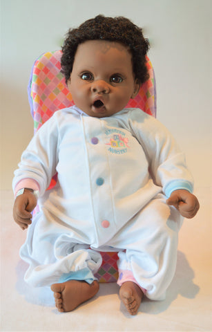 "Unisex African American Baby Doll ""Darrell""- Doll Therapy for People w/ Alzheimer's and Caregivers"