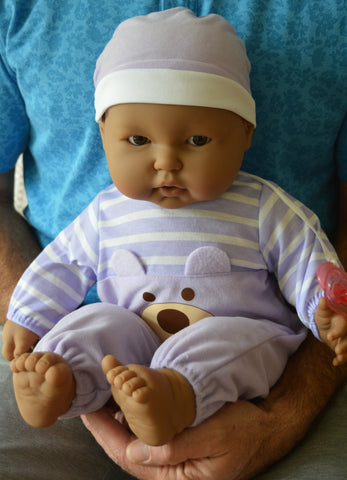 "Unisex Hispanic Baby ""Antonio"" - Doll Therapy for People with Alzheimer's and Caregivers"