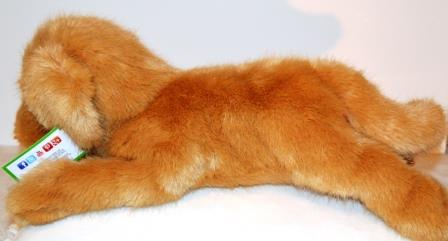Large Reclining Golden Retriever Companion for People with Alzheimer's