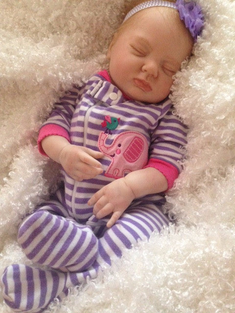 Reborn Believable Babies Sleeping Baby Girl Emma Doll Therapy For Memorable Pets