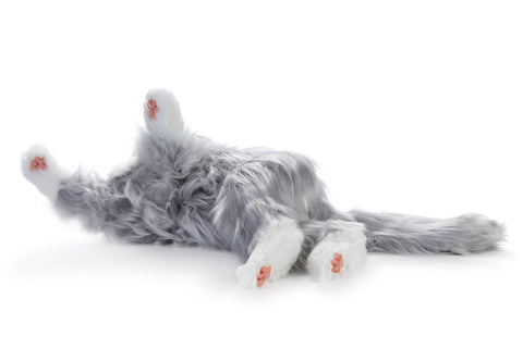 Joy For All- Robotic Silver Grey Cat Companion Pet for People with Alzheimer's and Caregivers