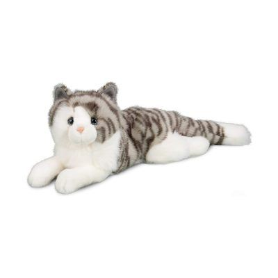 Grey and White Tiger Striped Cat Companion