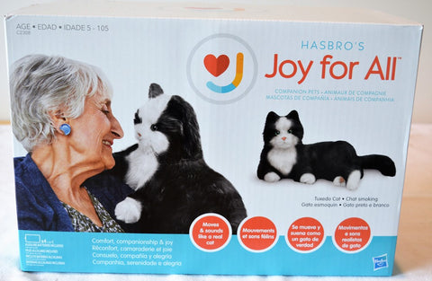 Joy For All- Robotic Black & White Tuxedo Cat Companion Pet for People with Alzheimer's
