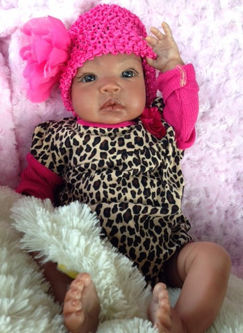 Reborn Believable Babies- AA or Biracial Girl Jackie- Doll Therapy for People w/ Alzheimer's