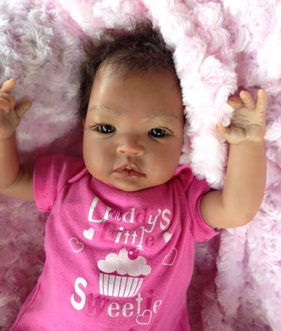 Reborn Believable Babies- African American or Biracial Girl Jackie- Doll Therapy for People w/ Alzheimer's