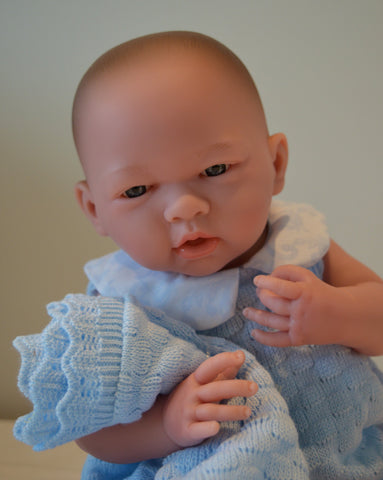 "Baby Boy ""Jim"" Blanket Gift Set- Doll Therapy for People with Alzheimer's and Caregivers"