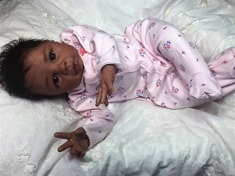 Reborn Believable Babies - Biracial Baby Girl Kyra- Doll Therapy for People with Alzheimer's