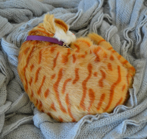 Breathable Orange Tabby Kitten Companion Pet for People with Alzheimer's and Caregivers
