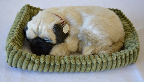 Breathable Pug Puppy Companion Pet for People with Alzheimer's and Caregivers