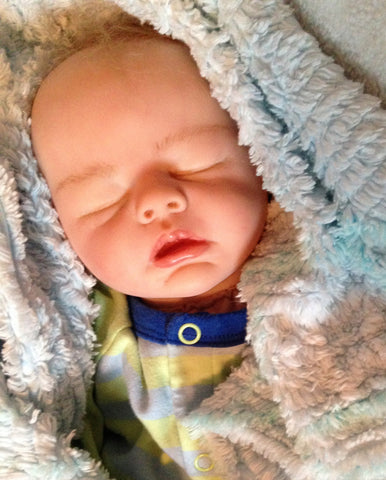 Reborn Believable Babies - Sleeping Baby Boy Sam - Doll Therapy for People with Alzheimer's