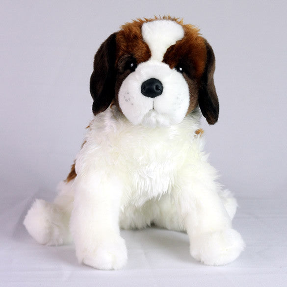 Saint Bernard Dog Stuffed Toy For Seniors And People With