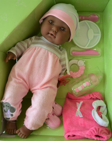 "Baby Girl ""Stella"" with OPEN & CLOSE eyes- 10 piece gift set- Doll Therapy for People with Alzheimer's"