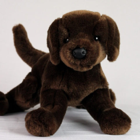 Chocolate Labrador Stuffed Toy For Seniors And People With