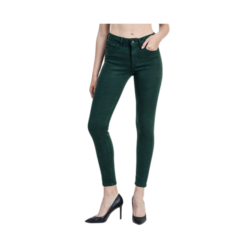 Colored Skinny Jean in Dark Olive by Just Black Denim