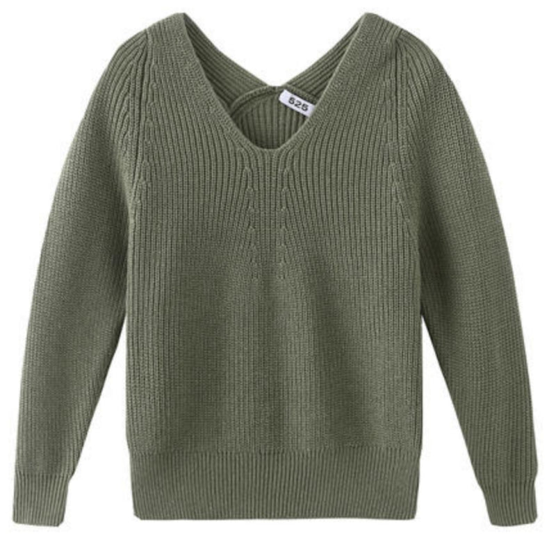 Ribbed V-Neck Sweater by 525 America
