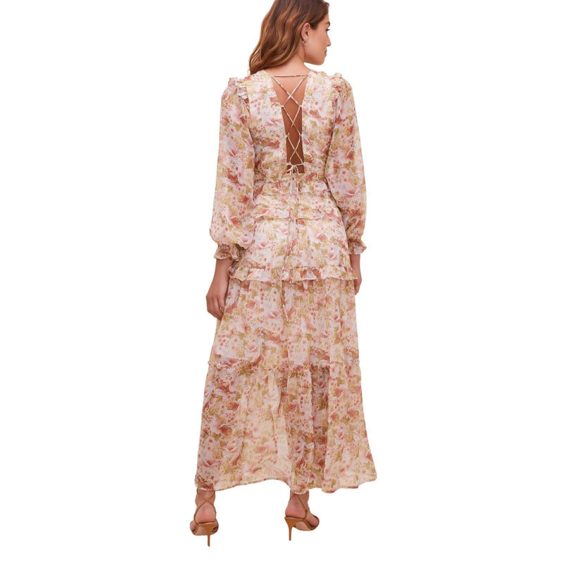 Fleur Tiered Floral Maxi Dress by ASTR