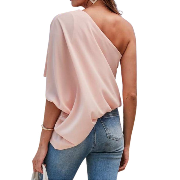 One Shoulder Sleeve Blouse