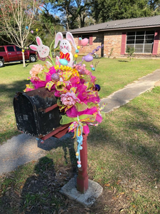 Large Easter mailbox topper - Little froging