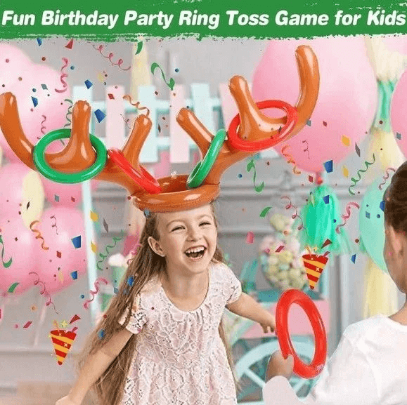 Christmas Reindeer Antlers Ring Toss Game - Chica Sol