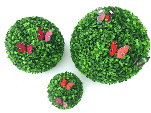 Price Reduction For A Limited Time! !—Artificial Plant Topiary Ball Faux Boxwood Decorative Balls - Chica Sol
