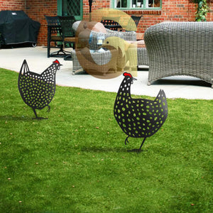 Metal Decor Chicken Yard Art & Farmhouse Decor - Little froging