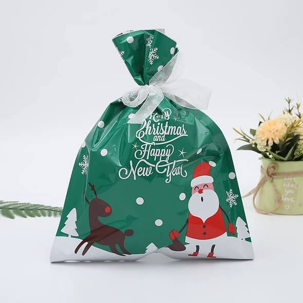 Drawstring Christmas Gift Bags 💖【Recommend Buy 100pcs 】 - Chica Sol