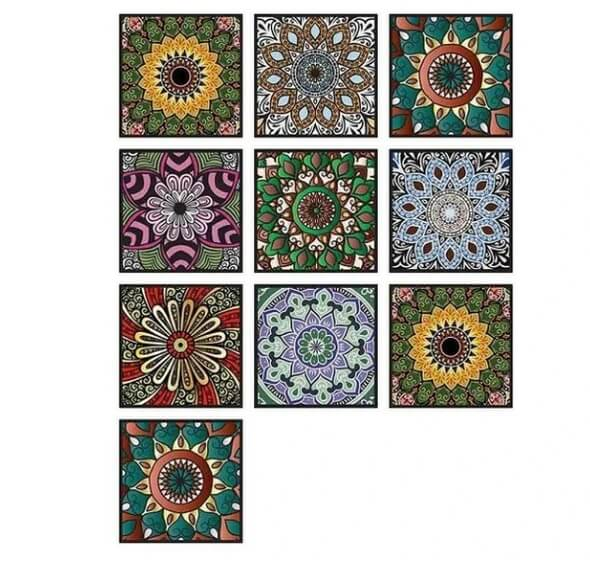 3D visual art geometric tile decals(10 Pieces A Pack& HOT SALE!!) - Chica Sol