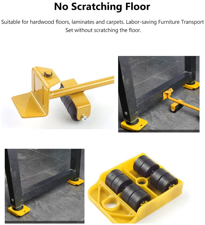 Furniture moving tool lifter shifter kit - Chica Sol