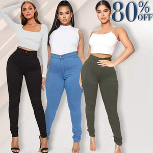 Luxe Stretch High Waist Tummy Booty Slimming Butt Lift Plus-Size Denim Jeans Leggings - Little froging