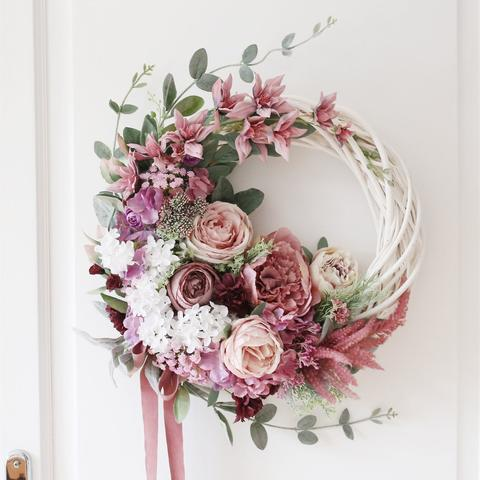 PINK SPRING FLOWER WREATH - Little froging