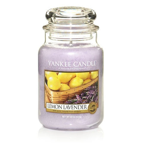 Yankee Candle Large Jar Lemon Lavender - lovearomameadowhall
