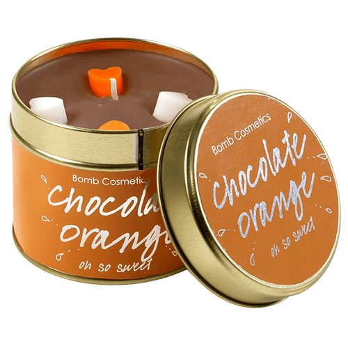 Chocolate Orange Tin Candle Bomb Cosmetics - lovearomameadowhall