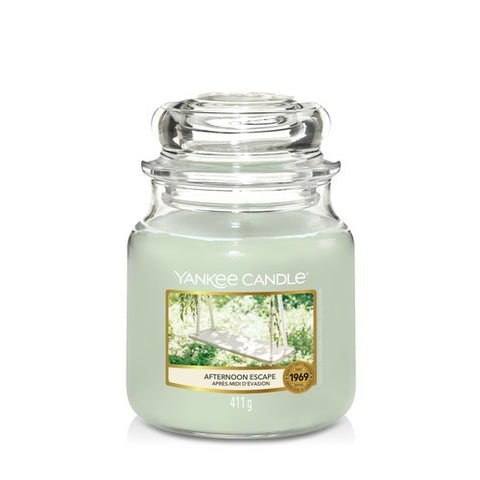 Yankee Candle Medium Jar Afternoon Escape - lovearomameadowhall