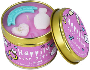 Happily Ever After Tin Candle Bomb Cosmetics - lovearomameadowhall