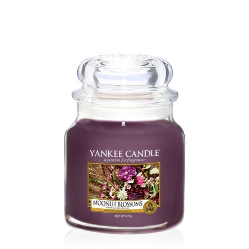 Yankee Candle Medium Jar Moonlit Blossoms - lovearomameadowhall