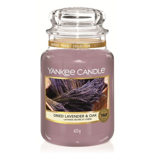 Yankee Candle Large Jar Dried Lavender and Oak - lovearomameadowhall