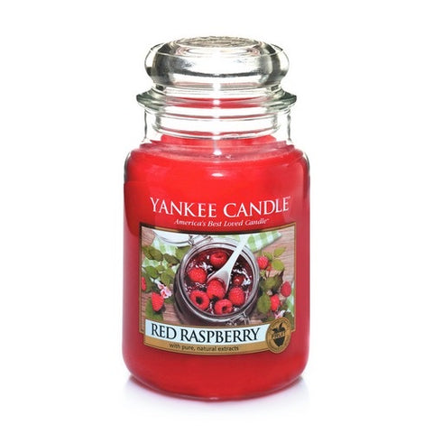 Yankee Candle Large Jar Red Raspberry - lovearomameadowhall