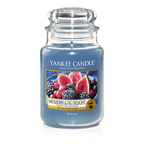 Yankee Candle Large Jar Mulberry Fig - lovearomameadowhall