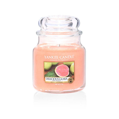 Yankee Candle Medium Jar Delicious Guava - lovearomameadowhall