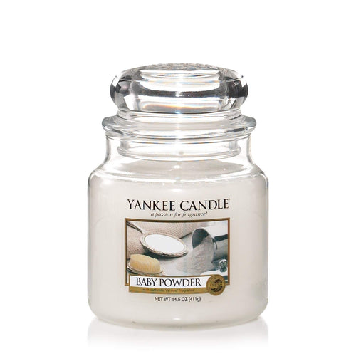 Yankee Candle Medium Jar Baby Powder - lovearomameadowhall