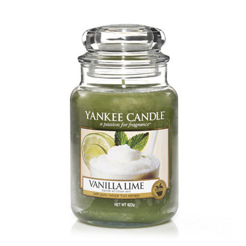 Yankee Candle Large Jar Vanilla Lime - lovearomameadowhall